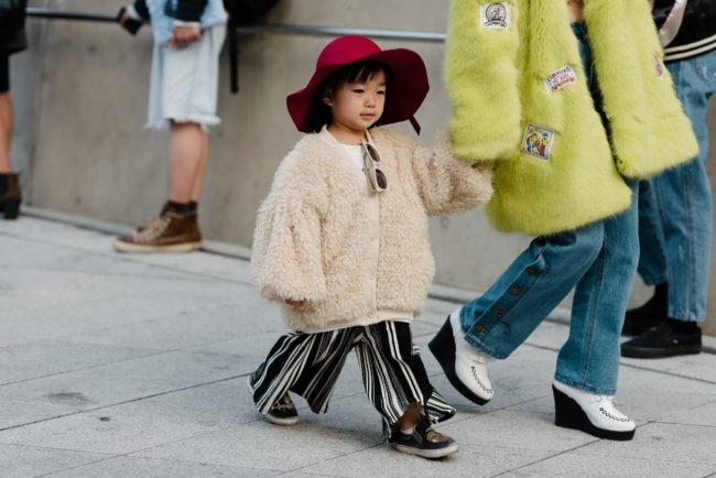 Even kids are enjoying the luxurious feel of fur