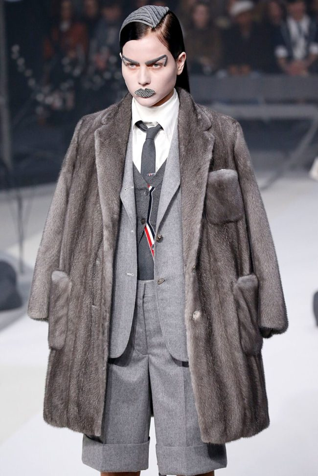 Thom Browne Fall 2017 mink