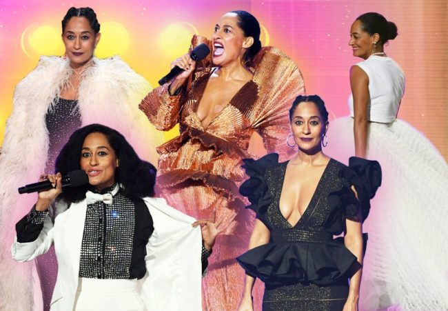 Tracee Ellis Ross captured the evening with her self deprecating humor and killer style