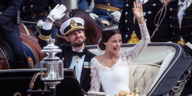 2015's wedding of Prince Carl Philip and Princess Sofia of Sweden. wedding fashion trends