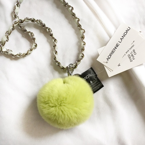 Jumbo fur Charm puff bag charm by Adrienne Landau stocking stuffers