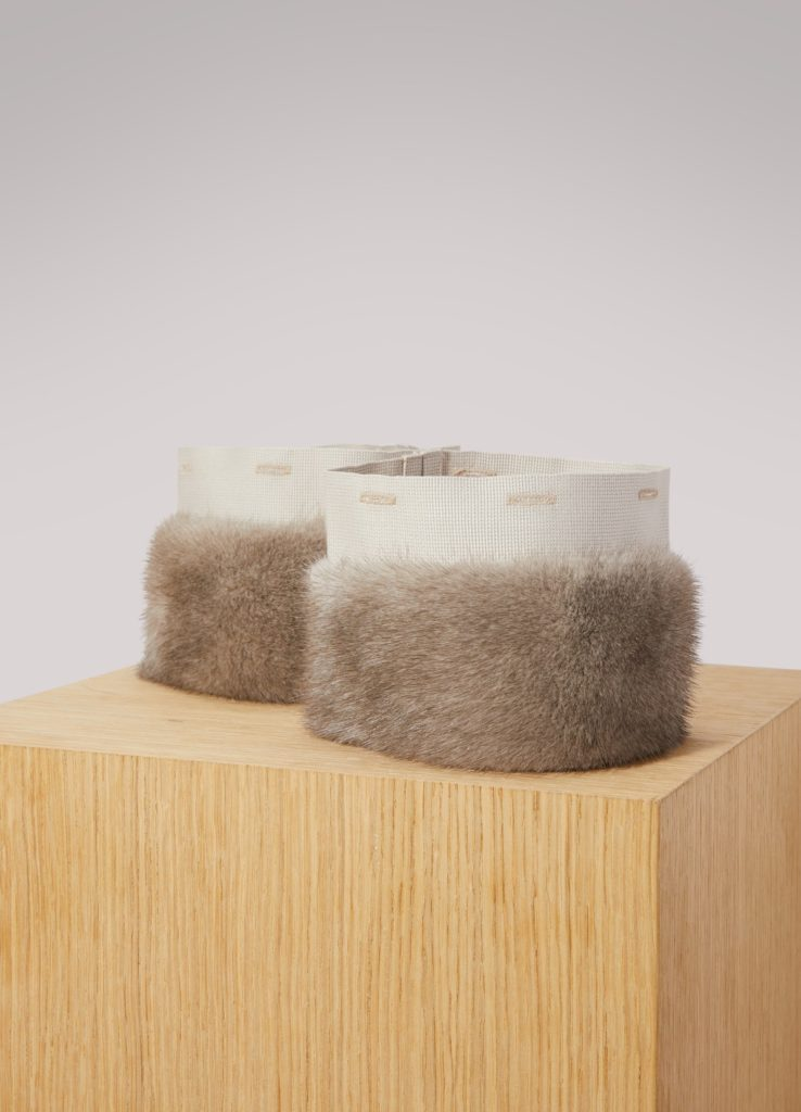 Max Mara detachable mink fur cuffs stocking stuffers