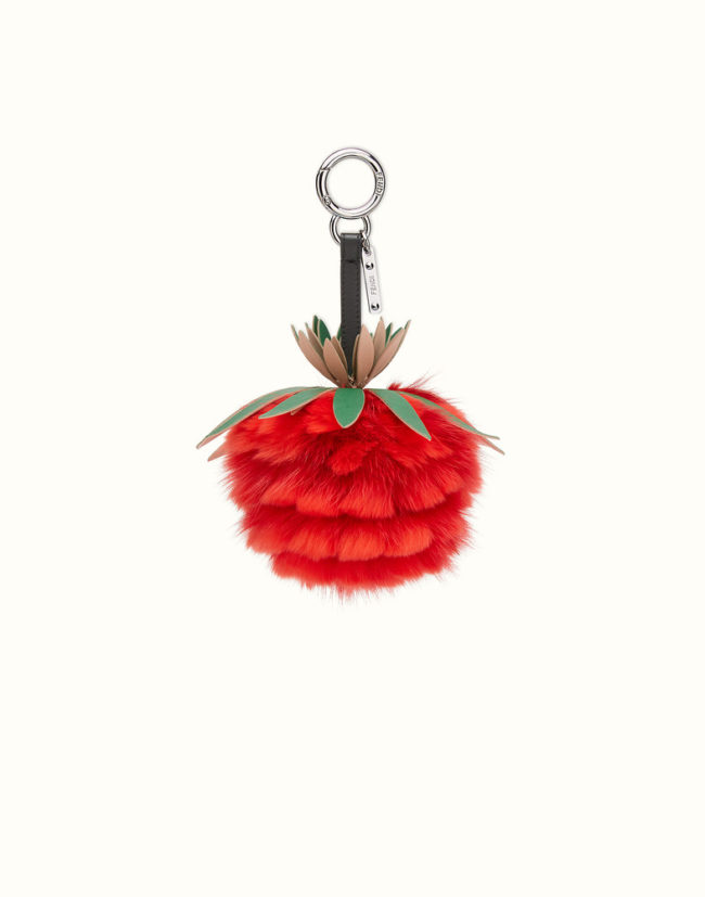 Fendi Fruits fur charm in red stocking stuffers