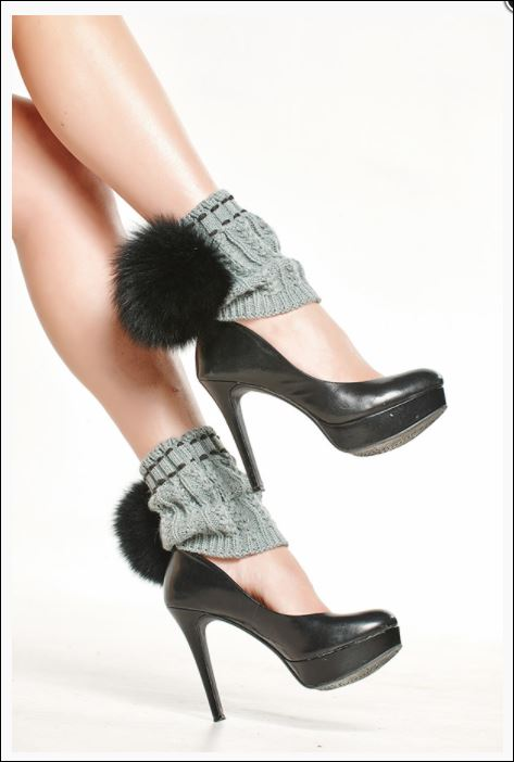 How about fur pom leg warmers? We found this darling pair at Marcella Fur and Leather that she'll go wild for! stocking stuffers
