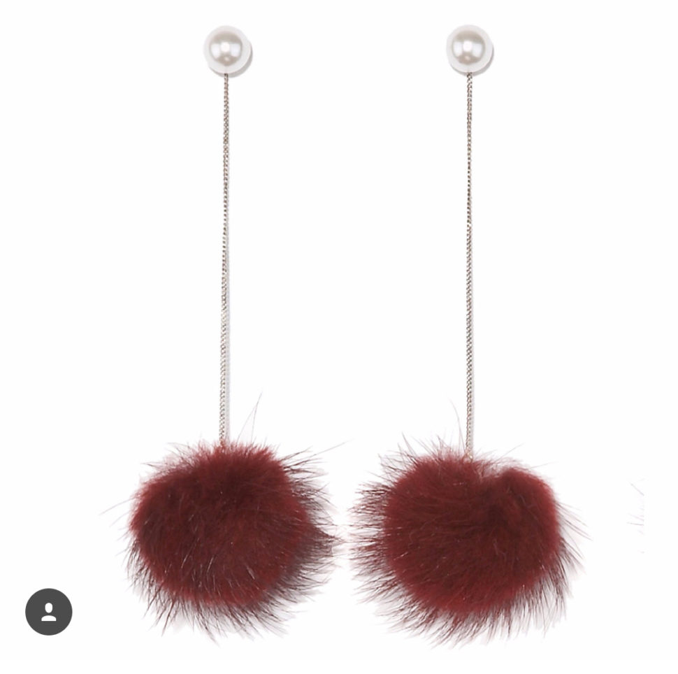 Mink drop earrings from Pologeorgis would make the perfect stocking stuffers