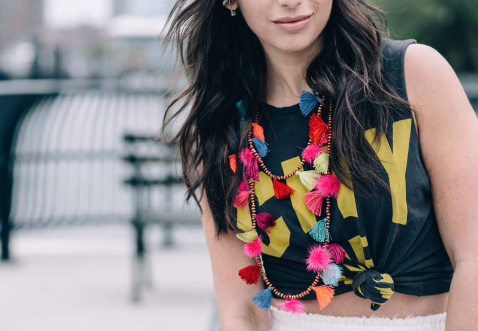 The Jocie Tassel Necklace - Bright Multi by Jocelyn stocking stuffers