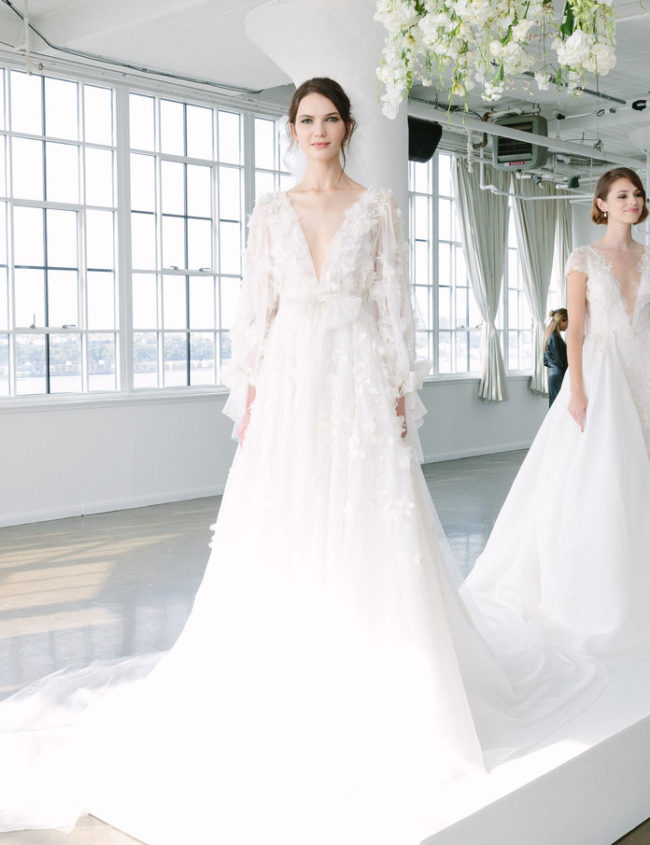 Marchesa Fall 2018 wedding fashion trends