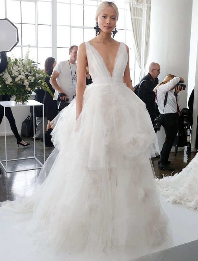 Marchesa Spring 2018 wedding fashion trends