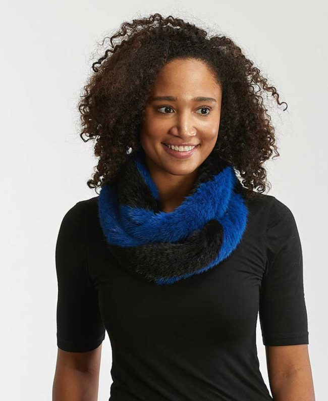 Mink Knitted Infinity Scarf by Alaskan Fur Company stocking stuffers