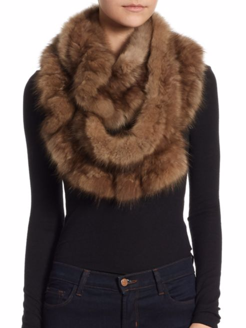 Sable infinity Scarf - The Fur Salon at Saks stocking stuffers