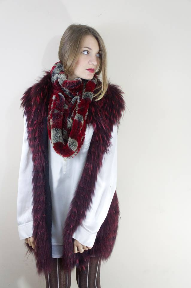 Multi-color fur knit infinity scarf from Somper furs make the perfect stocking stuffers