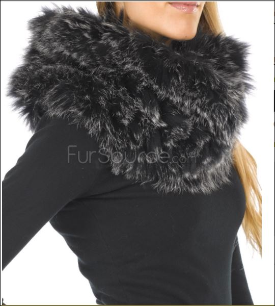 Rabbit fur pullover scarf from fursource stocking stuffers