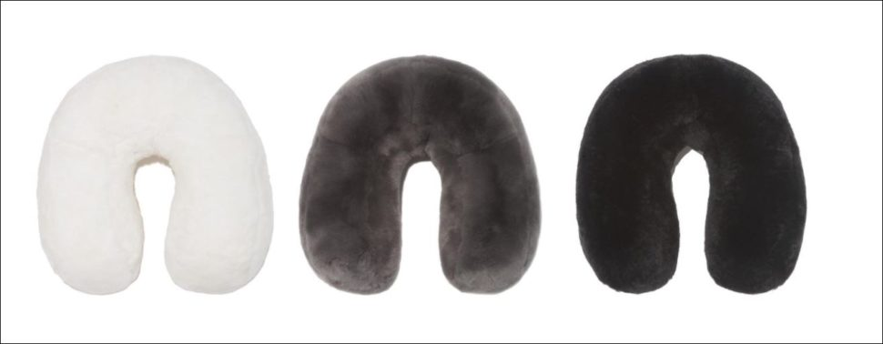 Mink travel neck pillows from Pologeorgis stocking Stuffers