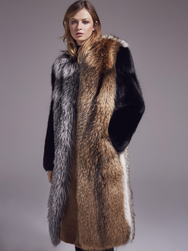 New Year's fur for warmth