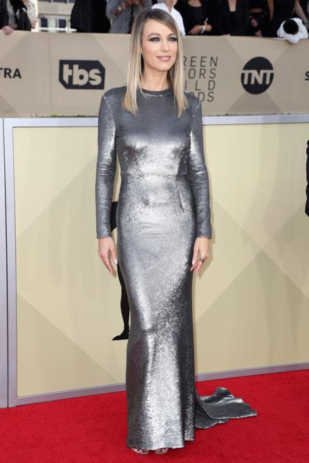 Natalie Zea at the 2018 Screen Actors Guild Awards