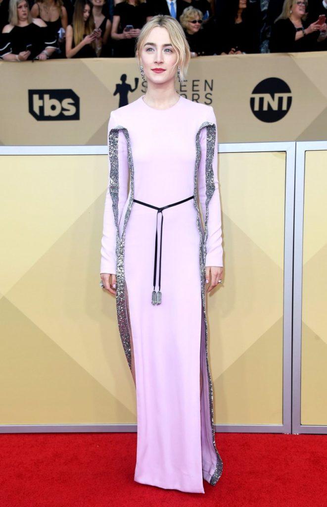 Saoirse Ronan at the 2018 Screen Actors Guild Awards