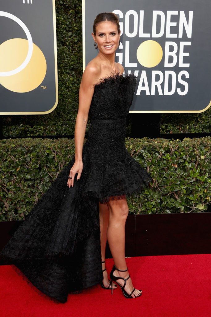 Heidi Klum at the 2018 Golden Globes