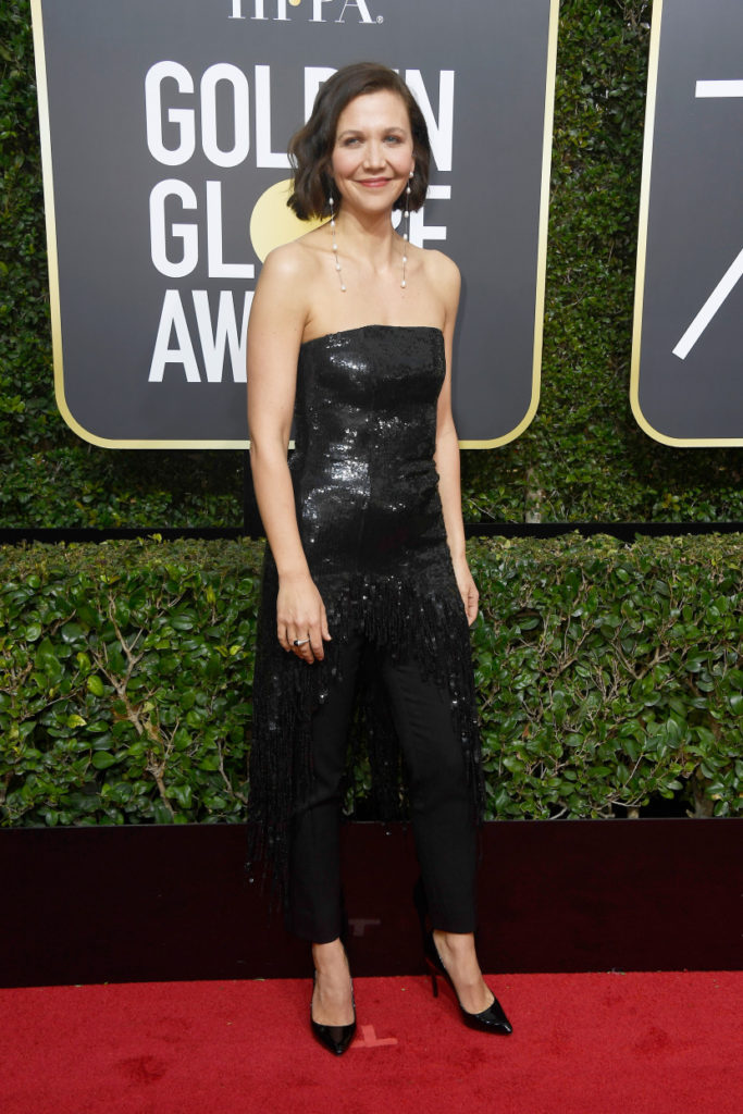 Maggie Gyllenhaal at the 2018 Golden Globes