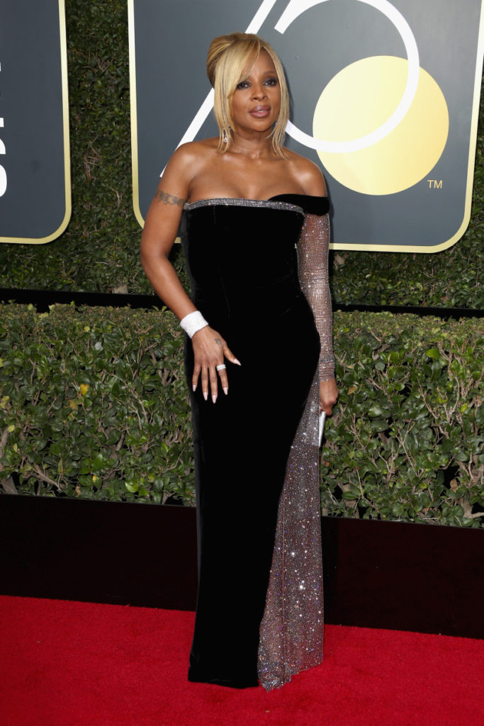 Mary J. blige at the 2018 Golden Globes