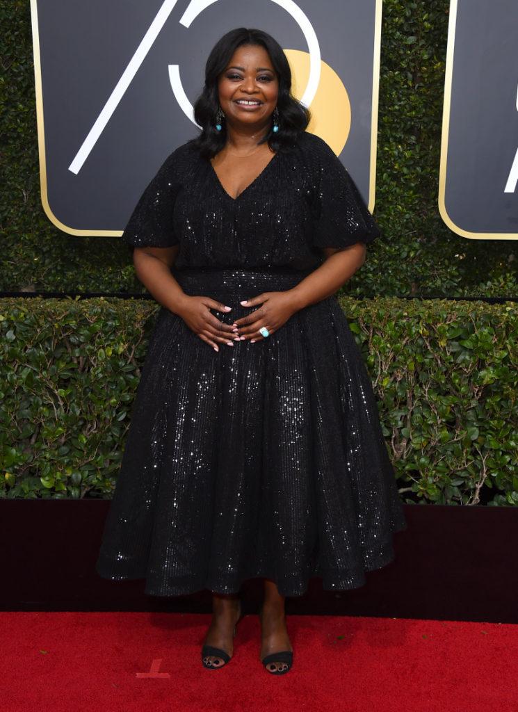 Octavia Spencer at the 2018 Golden Globes