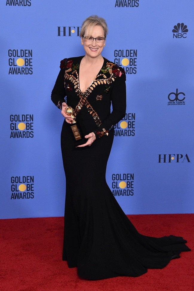 Meryl Streep in Givenchy | Golden Globes