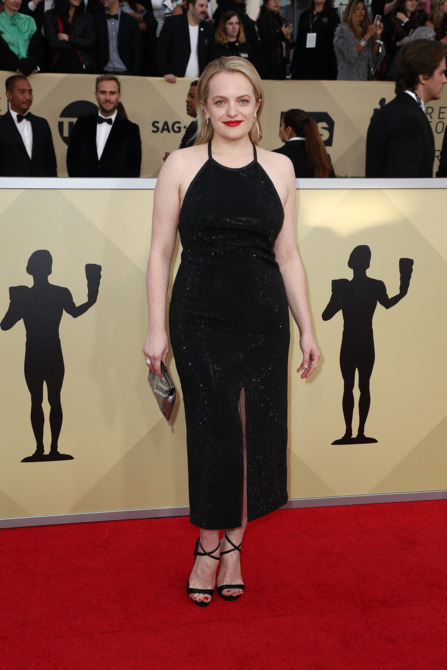 Elisabeth Moss at the 2018 Screen Actors Guild Awards