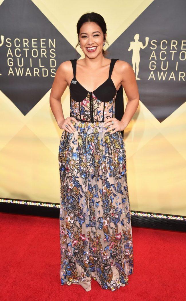 Gina Rodriguez at the 2018 Screen Actors Guild Awards