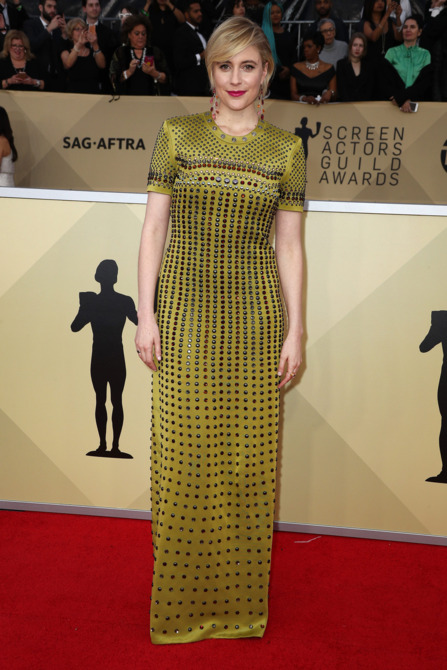 Greta Gerwig at the 2018 Screen Actors Guild Awards