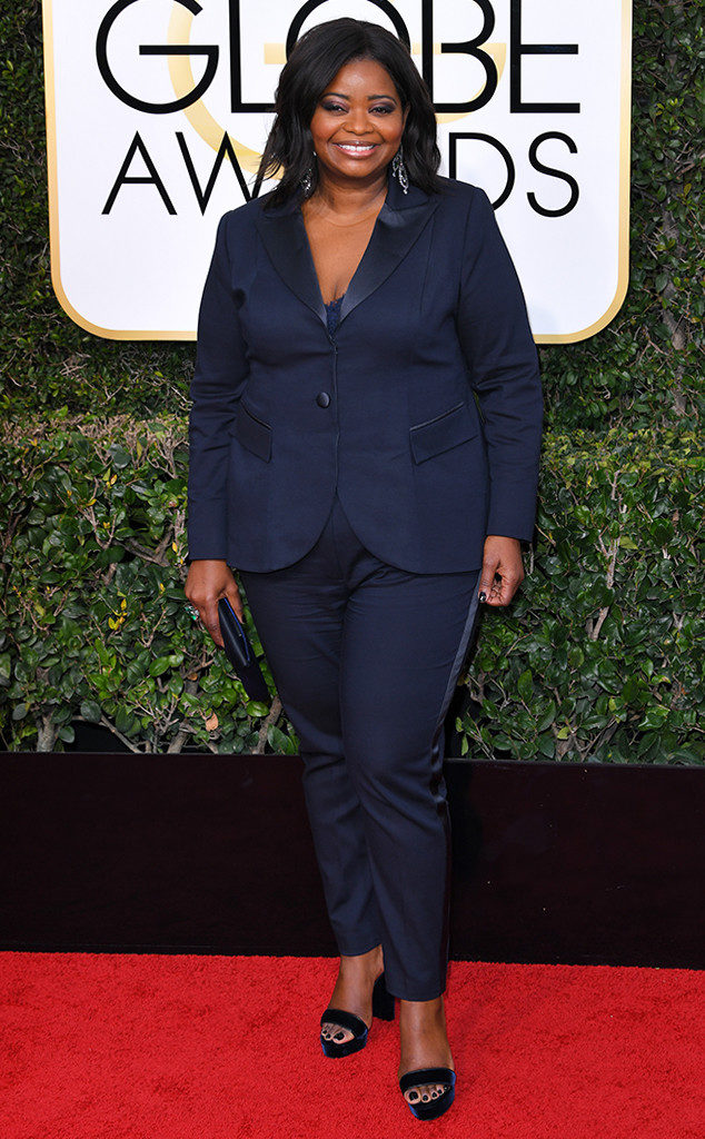 Octavia Spencer from 2017 Golden Globes Red Carpet