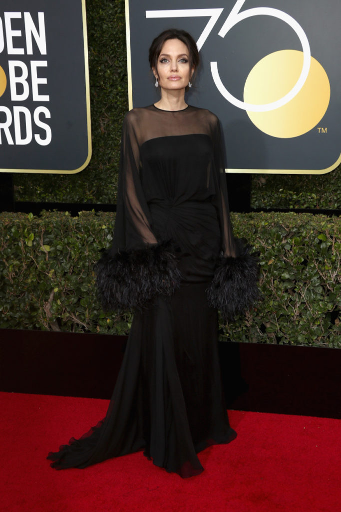 Angelina Jolie at the 2018 Golden Globes