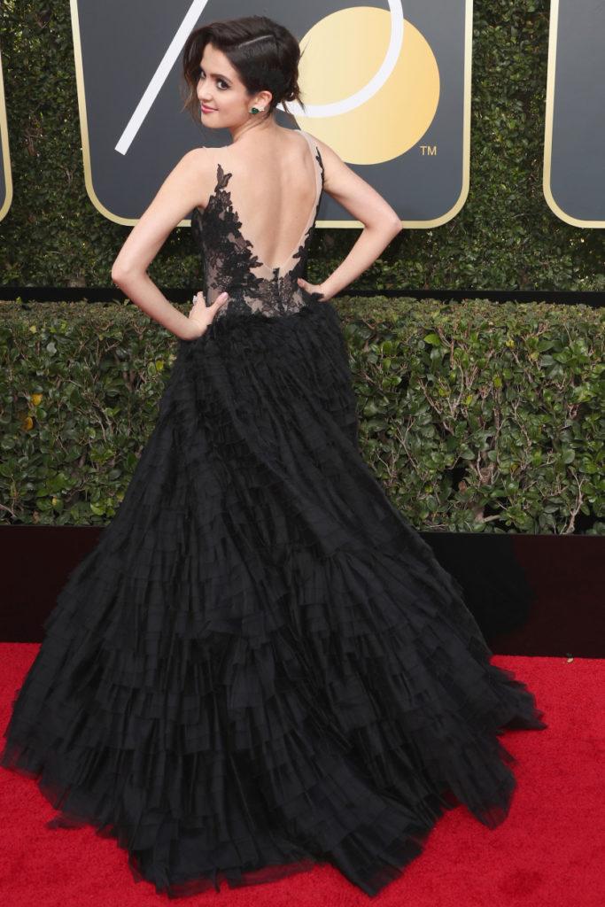 Laura Marano at the 2018 Golden Globes