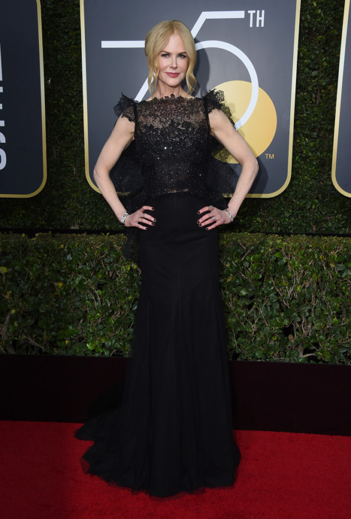 Nicole Kidman arrives at the 75th annual Golden Globes Awards