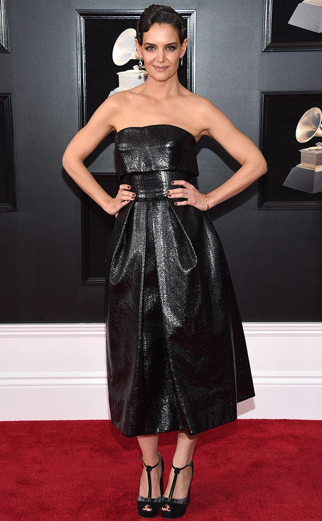 Katie Holmes at the 2018 Grammy Awards