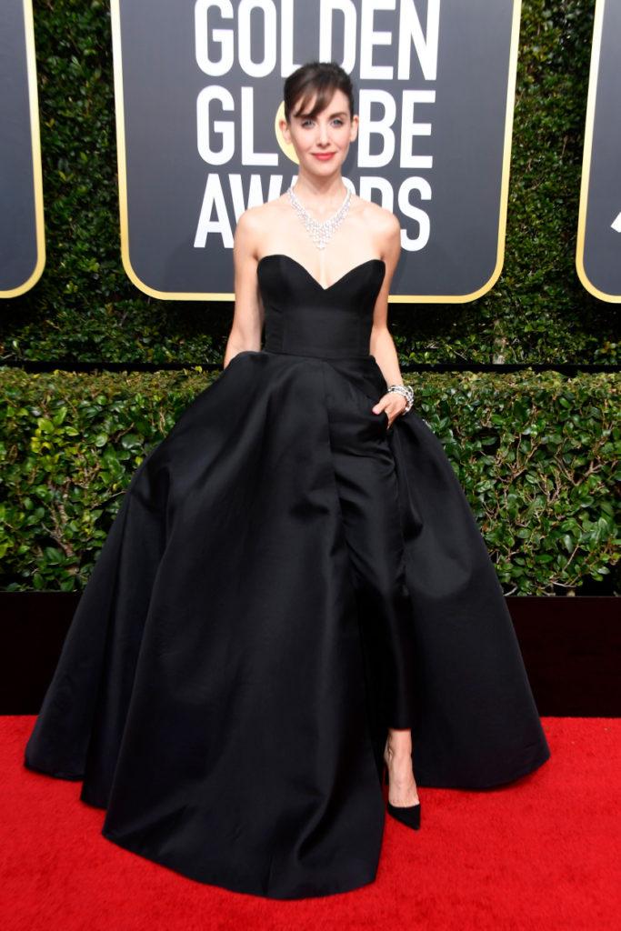 Allison Brie 2018 Golden Globes
