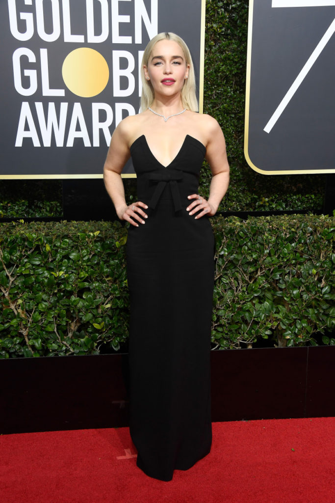 Emilia Clarke at the 2018 Golden Globes