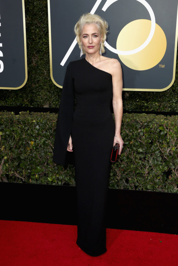 Gillian Anderson at the 2018 Golden Globes