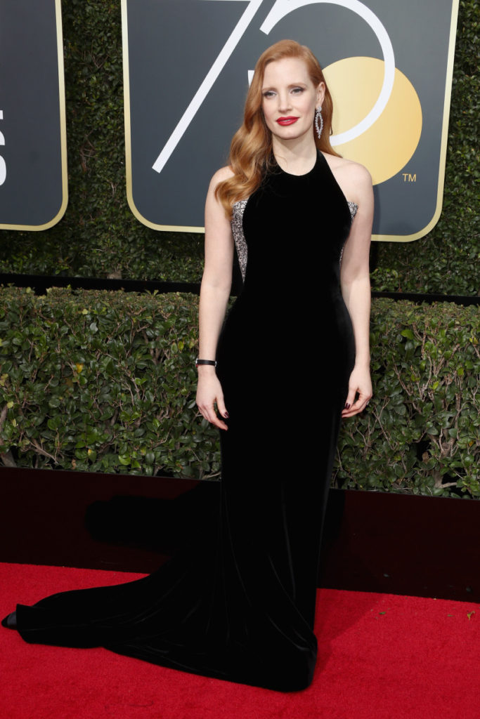 Jessica Chastain at the 2018 Golden Globes