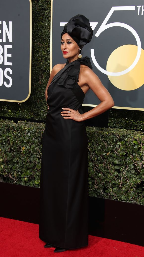 Tracee Ellis Ross at the 2018 Golden Globes