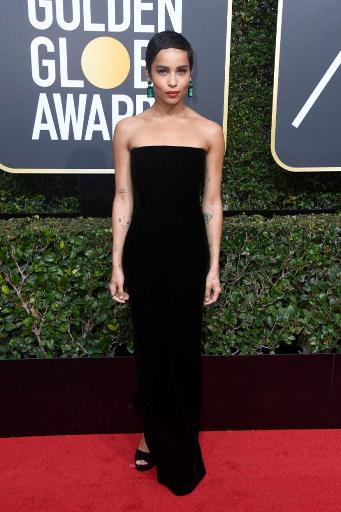 Zoë Kravitz at the 2017 Golden Globes