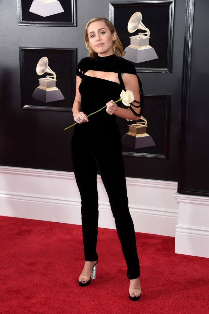 miley cyrus at the 2018 Grammy Awards