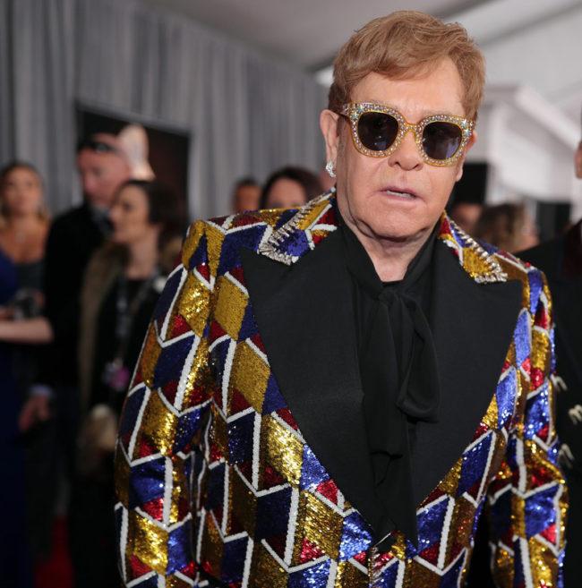 Sir. Elton John at the 2018 Grammy Awards