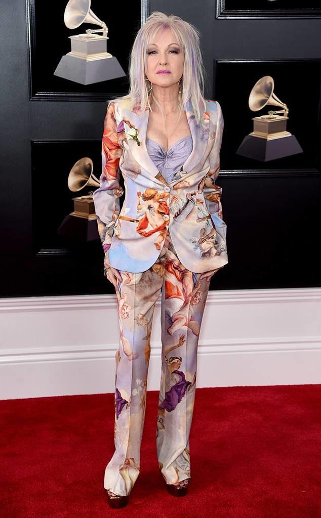 Cyndi Lauper at the 2018 Grammy Awards