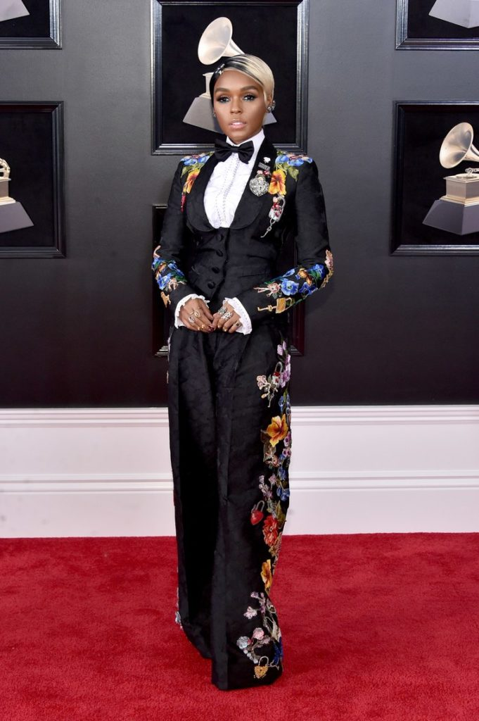Janelle Monae at the 2018 Grammy Awards