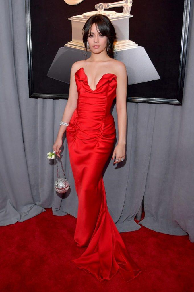 Camila Cabello at the 2018 Grammy Awards