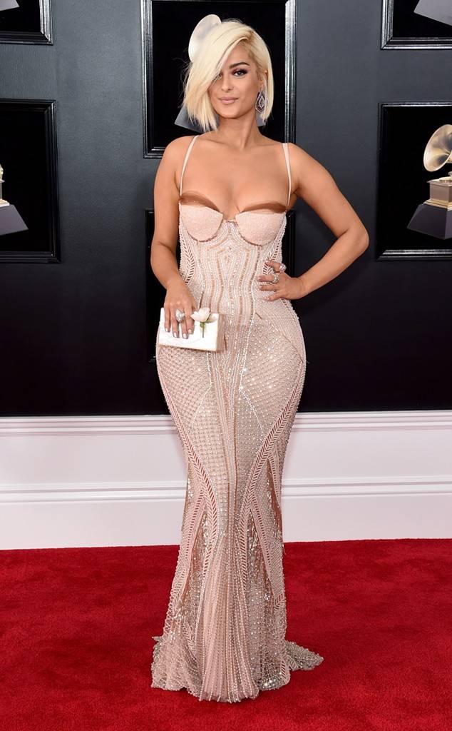 Bebe Rexha at the 2018 Grammy Awards