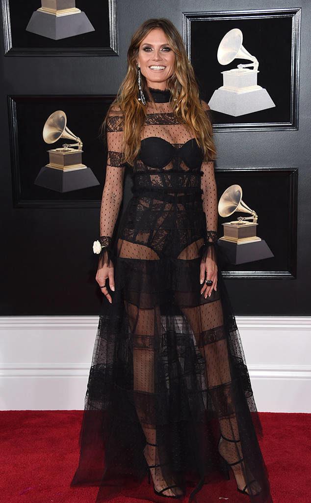 Heidi Klum at the 2018 Grammy Awards