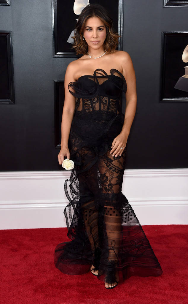 Liz Hernandez at the 2018 Grammy Awards