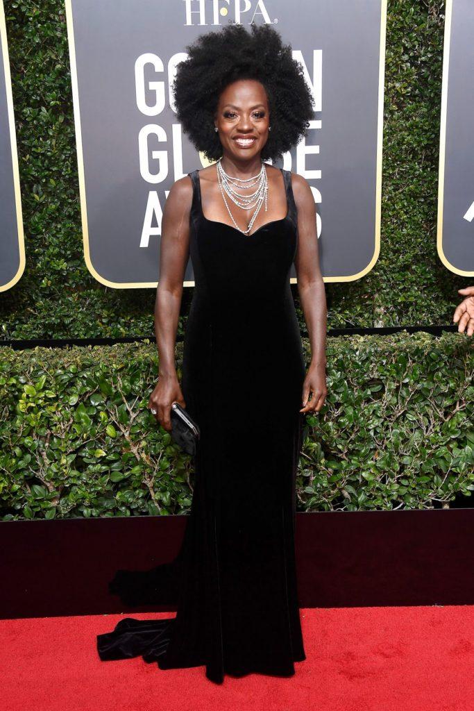 Viola Davis at the 2018 Golden Globes