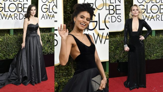 Golden Globes from the past black dresses