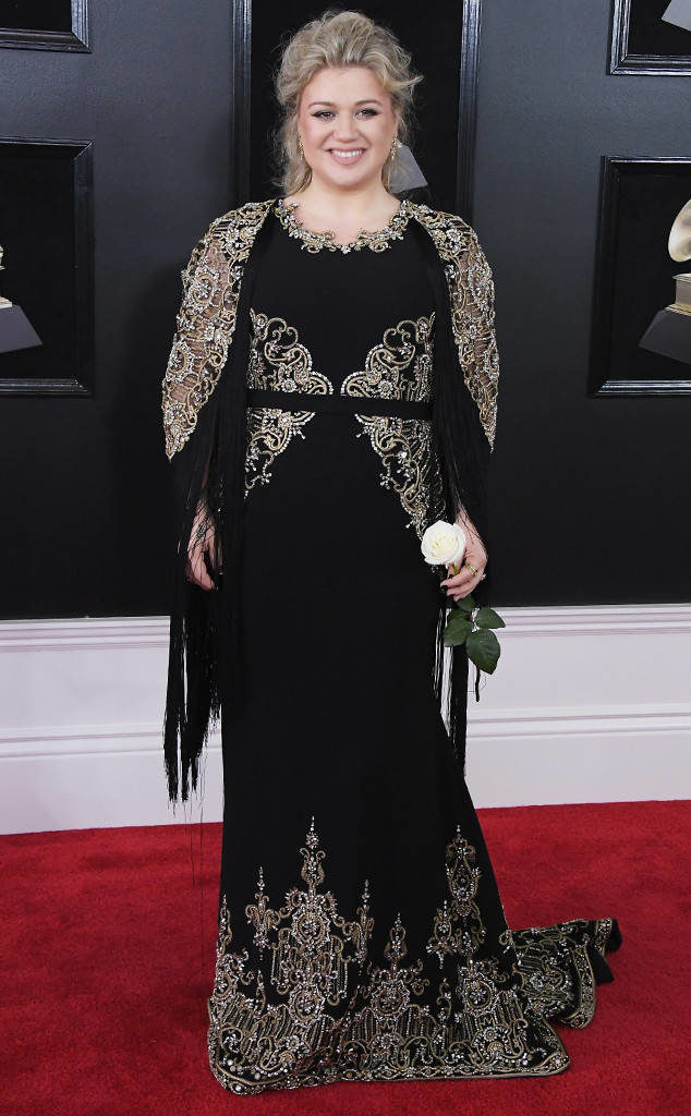 Kelly Clarkson at the 2018 Grammy Awards